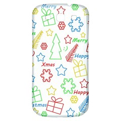 Simple Christmas Pattern Samsung Galaxy S3 S Iii Classic Hardshell Back Case by Valentinaart