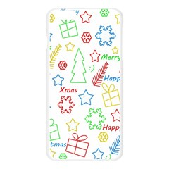 Simple Christmas pattern Apple Seamless iPhone 6 Plus/6S Plus Case (Transparent) by Valentinaart