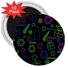 Decorative Xmas Pattern 3  Magnets (10 Pack)  by Valentinaart