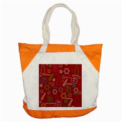 Red Xmas Pattern Accent Tote Bag by Valentinaart