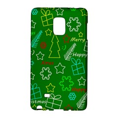 Green Xmas Pattern Galaxy Note Edge by Valentinaart