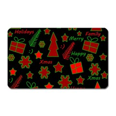 Red And Green Xmas Pattern Magnet (rectangular) by Valentinaart