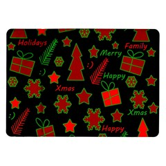 Red And Green Xmas Pattern Samsung Galaxy Tab 10 1  P7500 Flip Case by Valentinaart