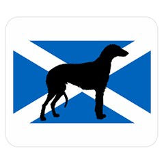 Scottish Deerhound Silhouette Scotland Flag Double Sided Flano Blanket (Small)  by TailWags