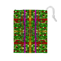 A Gift Given By Love Drawstring Pouches (large)  by pepitasart
