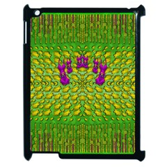 Flowers And Yoga In The Wind Apple Ipad 2 Case (black) by pepitasart
