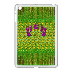 Flowers And Yoga In The Wind Apple Ipad Mini Case (white)