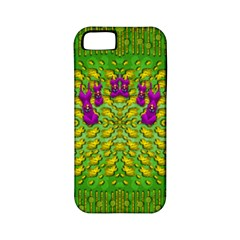 Flowers And Yoga In The Wind Apple Iphone 5 Classic Hardshell Case (pc+silicone) by pepitasart