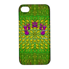 Flowers And Yoga In The Wind Apple Iphone 4/4s Hardshell Case With Stand by pepitasart