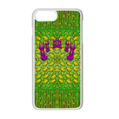 Flowers And Yoga In The Wind Apple iPhone 7 Plus White Seamless Case by pepitasart