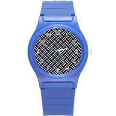 Woven2 Black Marble & Gray Marble Round Plastic Sport Watch (s) by trendistuff