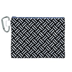 Woven2 Black Marble & Gray Marble Canvas Cosmetic Bag (xl) by trendistuff