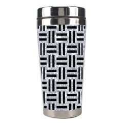 Woven1 Black Marble & Gray Marble (r) Stainless Steel Travel Tumbler by trendistuff