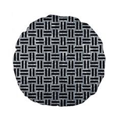 WOV1 BK-GY MARBLE (R) Standard 15  Premium Flano Round Cushions by trendistuff