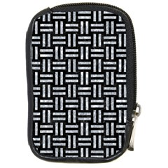 Woven1 Black Marble & Gray Marble Compact Camera Leather Case by trendistuff