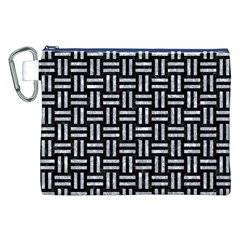 Woven1 Black Marble & Gray Marble Canvas Cosmetic Bag (xxl) by trendistuff