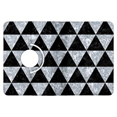 Triangle3 Black Marble & Gray Marble Kindle Fire Hdx Flip 360 Case by trendistuff