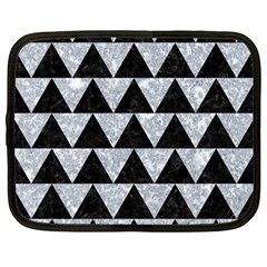 Triangle2 Black Marble & Gray Marble Netbook Case (large) by trendistuff