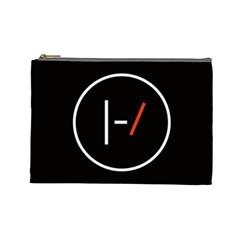Twenty One Pilots Band Logo Cosmetic Bag (large)  by Onesevenart