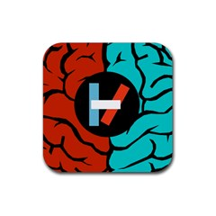 Twenty One Pilots  Rubber Coaster (square)  by Onesevenart