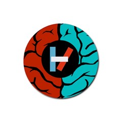 Twenty One Pilots  Rubber Round Coaster (4 Pack)  by Onesevenart