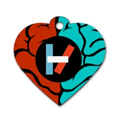 Twenty One Pilots  Dog Tag Heart (two Sides) by Onesevenart