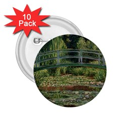 The Japanese Footbridge By Claude Monet 2 25  Buttons (10 Pack)  by ArtMuseum