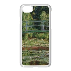 The Japanese Footbridge by Claude Monet Apple iPhone 7 Seamless Case (White) by ArtMuseum