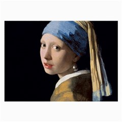 Girl With A Pearl Earring Large Glasses Cloth (2 Side) by ArtMuseum