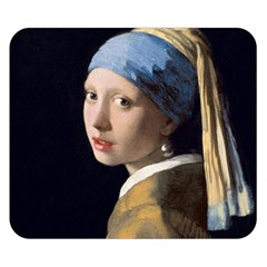 Girl With A Pearl Earring Double Sided Flano Blanket (small)  by ArtMuseum