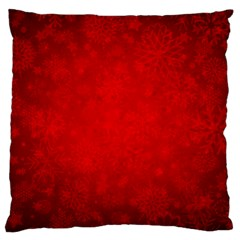 Decorative Red Christmas Background With Snowflakes Large Cushion Case (one Side) by TastefulDesigns