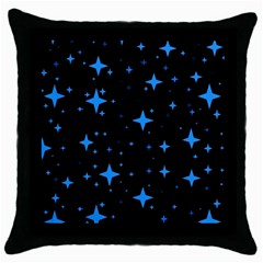 Bright Blue  Stars In Space Throw Pillow Case (black) by Costasonlineshop