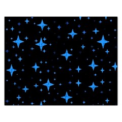 Bright Blue  Stars In Space Rectangular Jigsaw Puzzl by Costasonlineshop