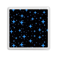 Bright Blue  Stars In Space Memory Card Reader (square)  by Costasonlineshop