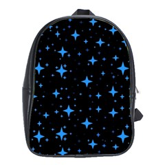 Bright Blue  Stars In Space School Bags (xl)  by Costasonlineshop