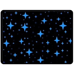 Bright Blue  Stars In Space Double Sided Fleece Blanket (large)  by Costasonlineshop