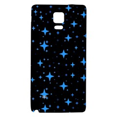 Bright Blue  Stars In Space Galaxy Note 4 Back Case by Costasonlineshop