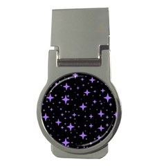 Bright Purple   Stars In Space Money Clips (round)  by Costasonlineshop