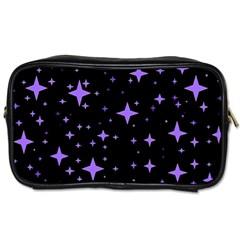 Bright Purple   Stars In Space Toiletries Bags 2 Side by Costasonlineshop