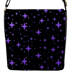 Bright Purple   Stars In Space Flap Messenger Bag (s) by Costasonlineshop