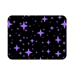 Bright Purple   Stars In Space Double Sided Flano Blanket (mini)  by Costasonlineshop