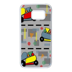 Toy Cars Samsung Galaxy S7 White Seamless Case by Valentinaart