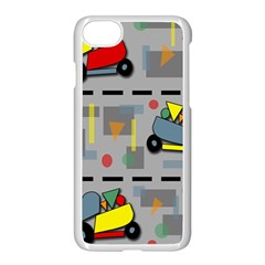 Toy Cars Apple Iphone 7 Seamless Case (white) by Valentinaart