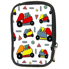 Toy Cars Pattern Compact Camera Cases by Valentinaart