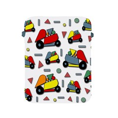 Toy Cars Pattern Apple Ipad 2/3/4 Protective Soft Cases by Valentinaart