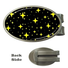 Bright Yellow   Stars In Space Money Clips (oval)  by Costasonlineshop