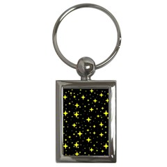 Bright Yellow   Stars In Space Key Chains (rectangle)  by Costasonlineshop