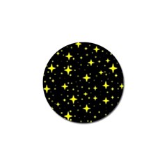Bright Yellow   Stars In Space Golf Ball Marker (10 Pack) by Costasonlineshop