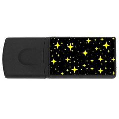 Bright Yellow   Stars In Space USB Flash Drive Rectangular (1 GB)  by Costasonlineshop