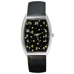 Bright Yellow   Stars In Space Barrel Style Metal Watch by Costasonlineshop